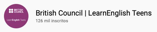 101 canais do YouTube para aprender inglês de graça British Council | LearnEnglish Teens