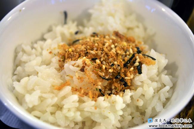 三好狸日式定食香鬆芝麻白飯