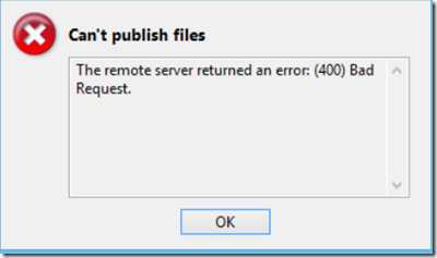 Open Live Writer Error Message