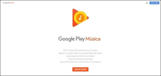 Abrir mi cuenta en Google Play Musica - 1