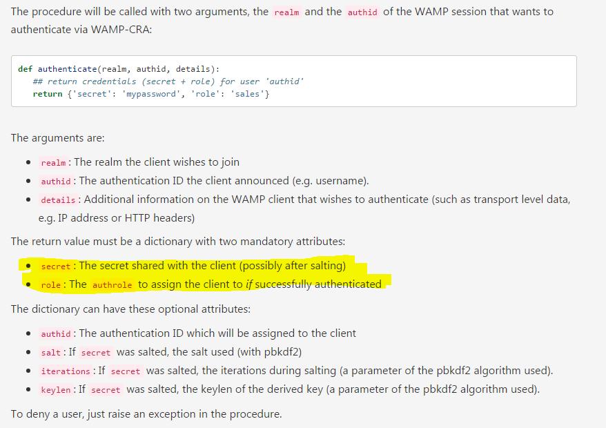 Problem Authentication and Sequelize promise - crossbar - Crossbar Forum