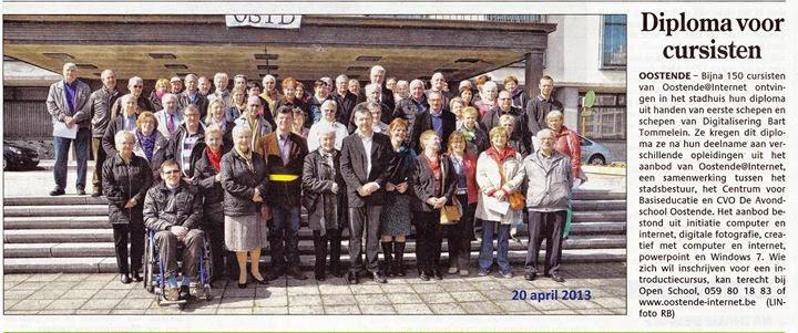 Getuigschriftenuitreiking 20 april 2013