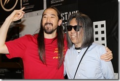 FLORENCE, ITALY - JUNE 13:  Steve Aoki and Hiroshi Fujiwara attend MONCLER FRAGMENT Florence on June 13, 2018 in Florence, Italy.  (Photo by Vittorio Zunino Celotto/Getty Images for Moncler) *** Local Caption *** teve Aoki;Hiroshi Fujiwara