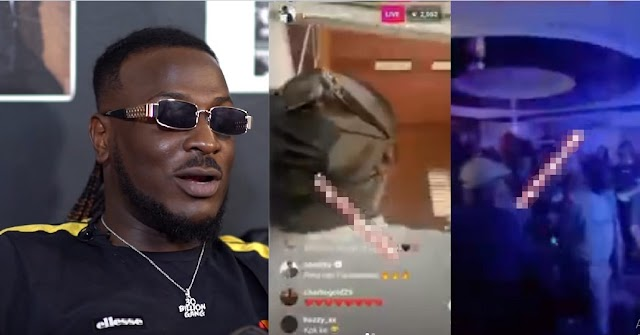 """""""I'm A Moving Train, Stand In Front Of Me And I Will Crush You""""— Singer, Peruzzi Says After Angrily Walking Out Of A Club [Video]"""