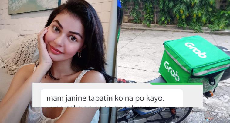Janine Gutierrez kinabahan sa ipinagtapat sa kaniya ng isang Grab Food Rider