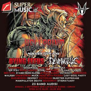 Hellprint Monster Tour 2016Minggu 4 September 2016 @Lap.Disjas Baros Cimahi