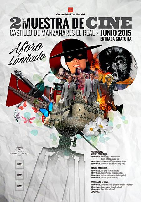 II Muestra de Cine 'Castillo de Manzanares el Real', 26, 27 y 28 de junio 2015