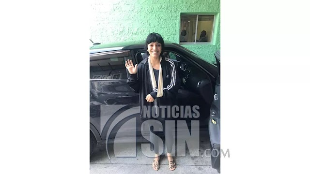 Brenda Castillo es dada de alta luego tras sufrir accidente de tránsito en Samaná.