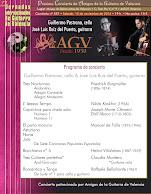 José Luis Ruiz del Puerto y Guillermo Pastrana Programa de concierto