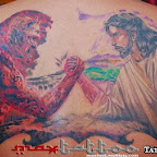 Jesus Satan back - tattoos ideas