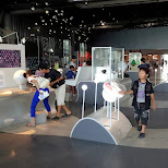 visitors at the Miraikan Museum of Emerging Science and Innovation in Odaiba, Tokyo, Japan