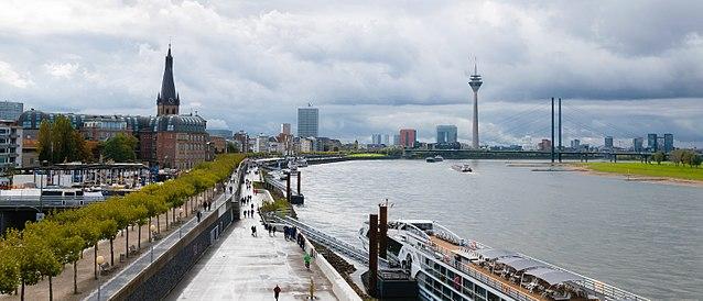 Panoramic view of Dusseldorf, Germany