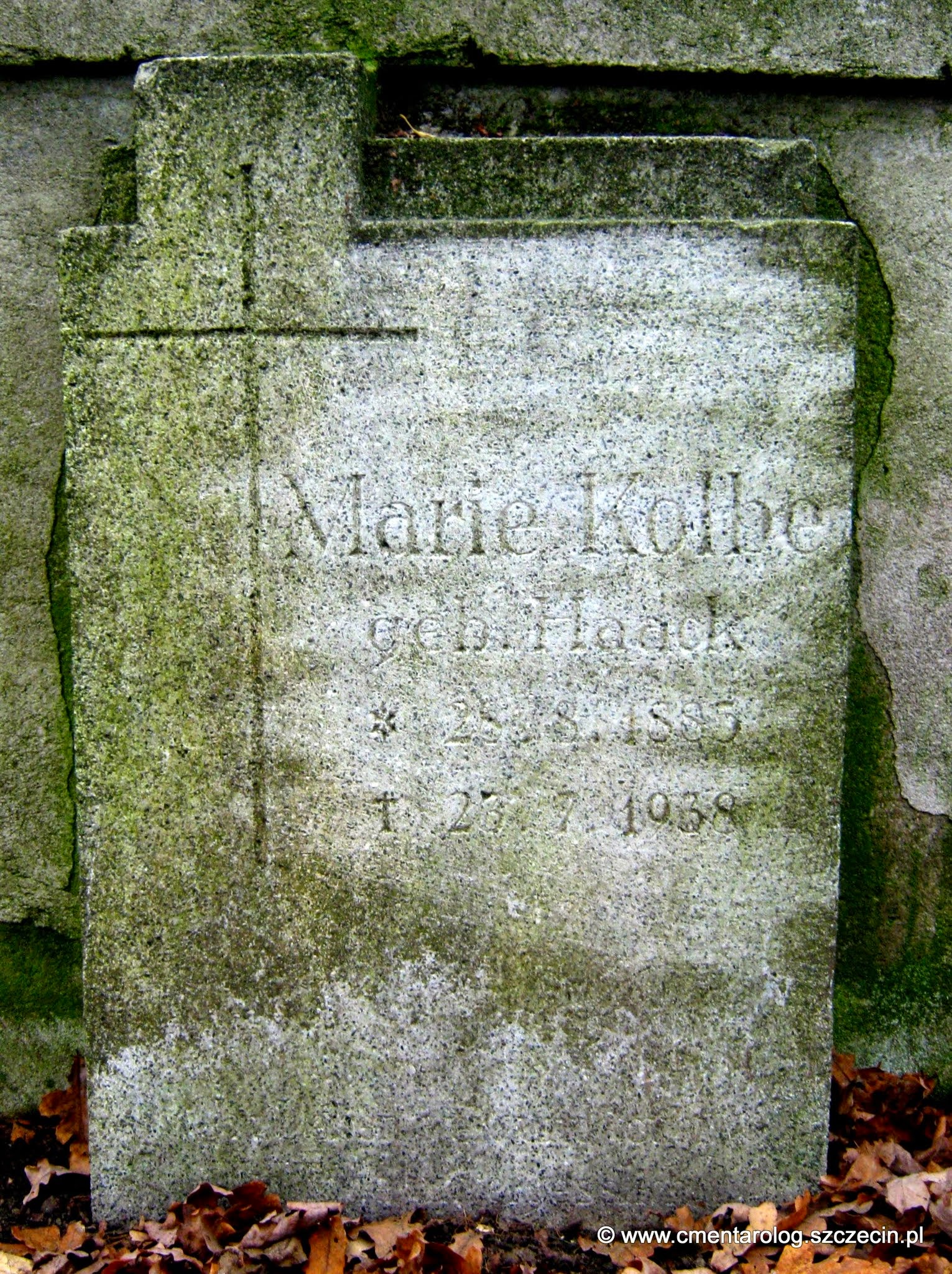 Nagrobek - Marie Kolbe (fot. Agata Freindorf, 2014 r.)