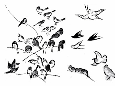 Three Little Birds Drawing Drawing Styles For Birds