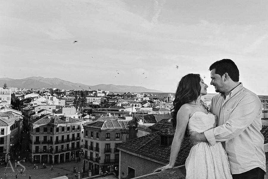 sesion de fotos pre boda en Segovia