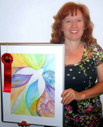 """Second Place: """"Hope Perches in the Soul"""" by Kathy Czopek."""