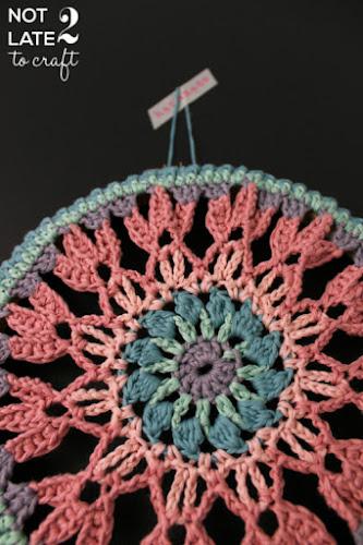 Not 2 late to craft: Mandala de ganxet d'Airali Design / Crochet mandala from Airali Design