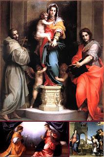 Картины итальянского живописца флорентийской школы Андрэа дель Сарто