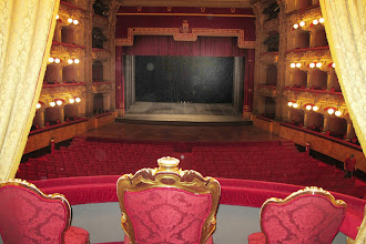 Photo: The King's box, Teatro Bellini, Catania...the show must go on....