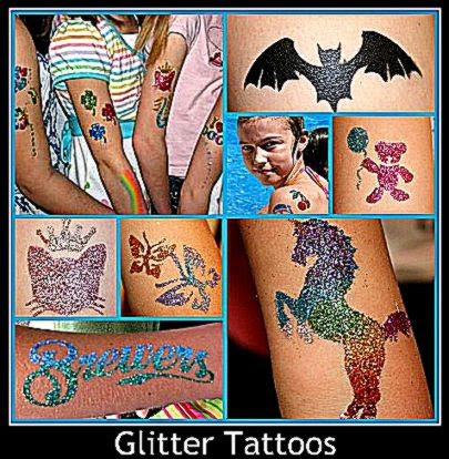 Glitter Tattoos andor Balloons   San Diego Kids Party Rentals