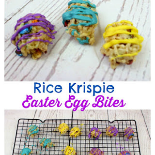 Rice Krispie Easter Egg Bites. Recipe