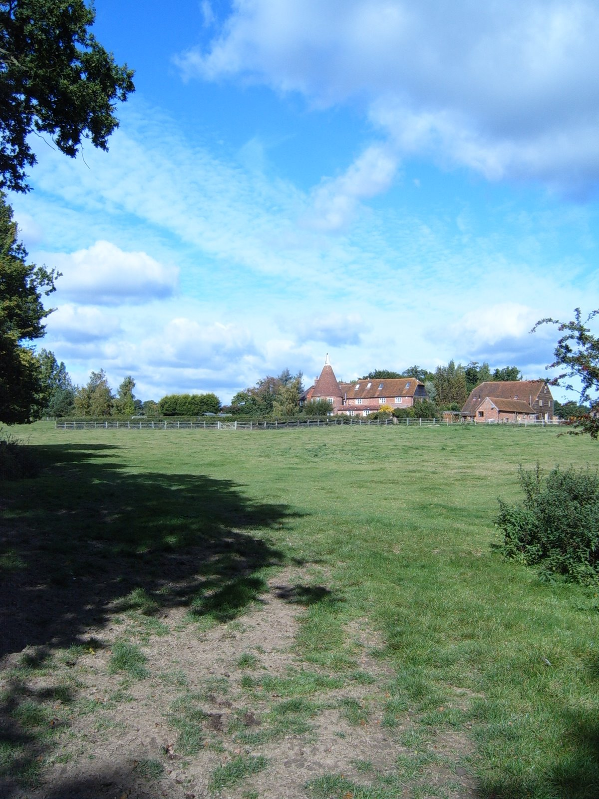 Oast House in the distance