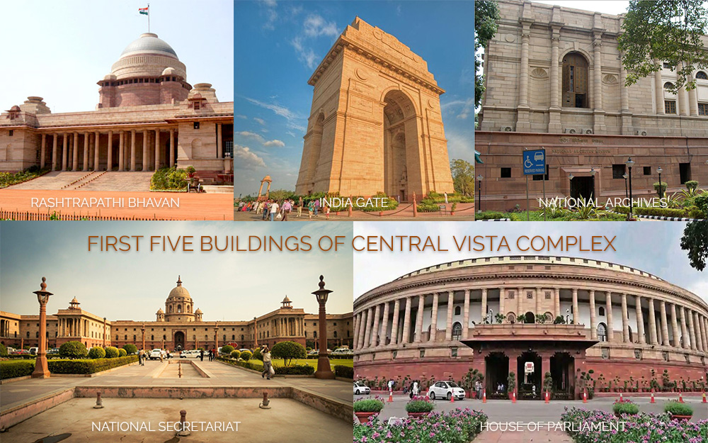 First Five buildings of the Central Vista complex built in 1931