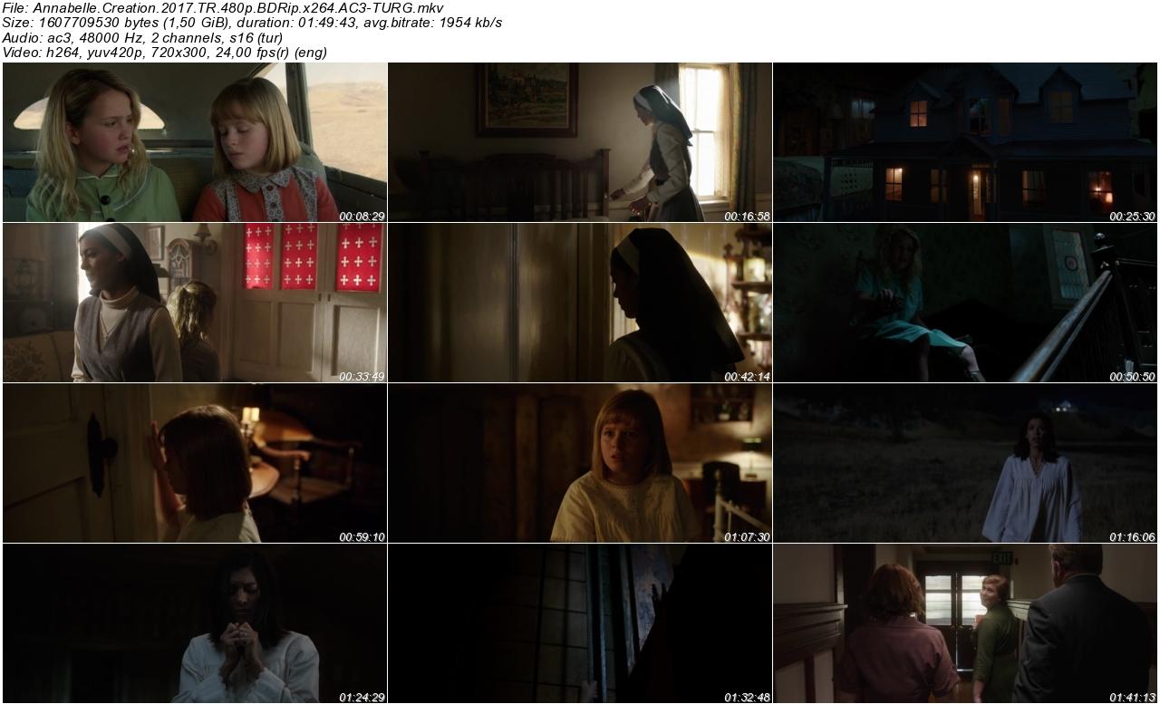 Annabelle Kötülüğün Doğuşu 2017 - 1080p 720p 480p - Türkçe Dublaj Tek Link indir