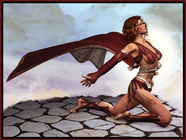 Warrior Girl In The Red Cloak, Warriors 2