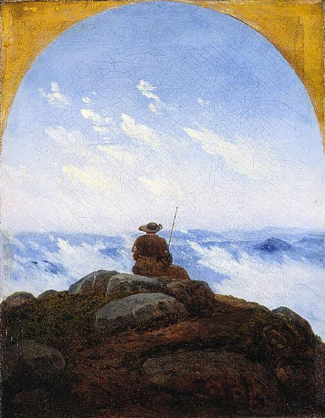Carl Gustav Carus - Wanderer on the Mountaintop