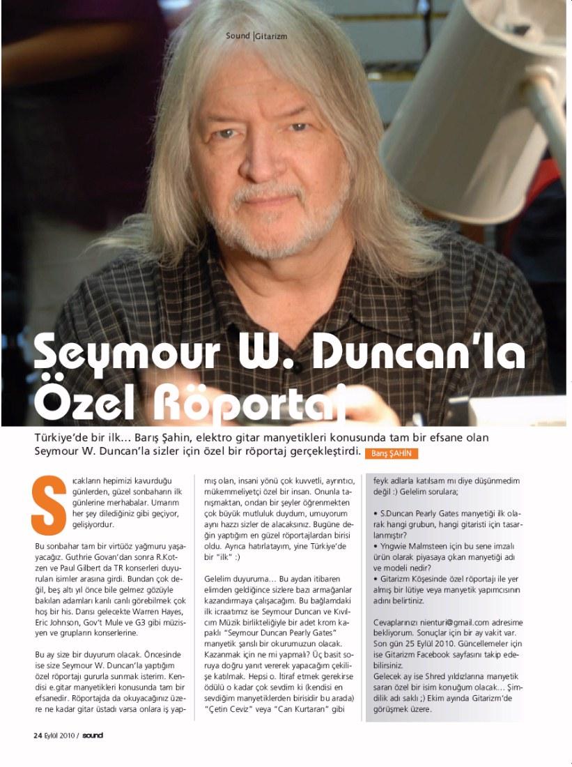 GUITARISM: Special Interview with Pickup Guru : Seymour W  Duncan