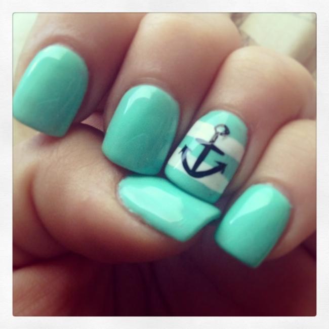 дизайн ногтей на море фото легкий