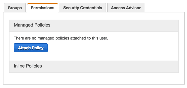 Create Amazon IAM User  Manage Policy Settings