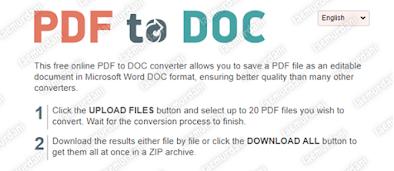 cara file pdf biar berubah dari word