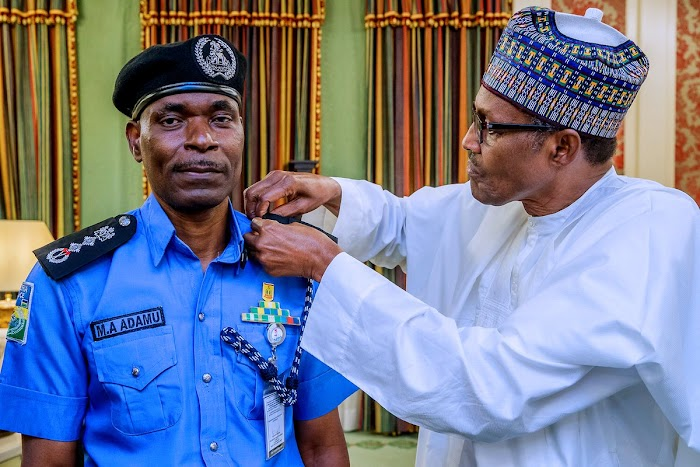 """I saw the police IG, I think he is loosing weight, so I think he is working very hard"" – President Buhari"