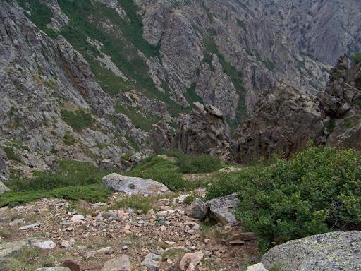 Couloir de descente vers Vetta di Muru