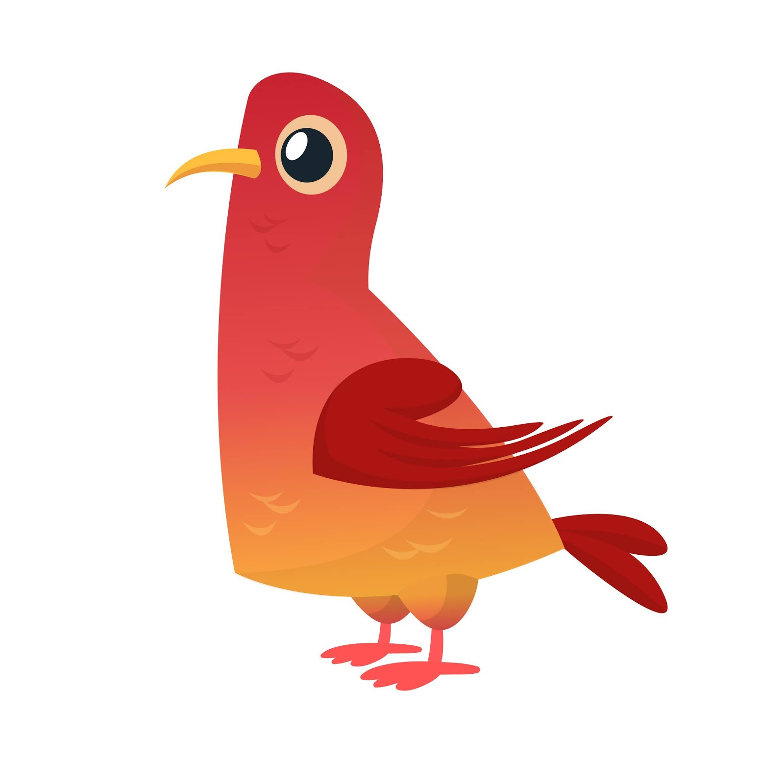 Cartoon Pigeon Free Download Vector CDR, AI, EPS and PNG Formats