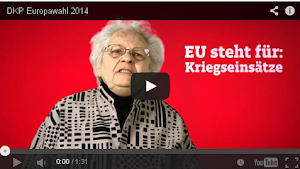 YouTube-Video: »EU steht für: Kriegseinsätze«.