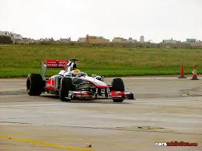 Lewis Hamilton at the wheel