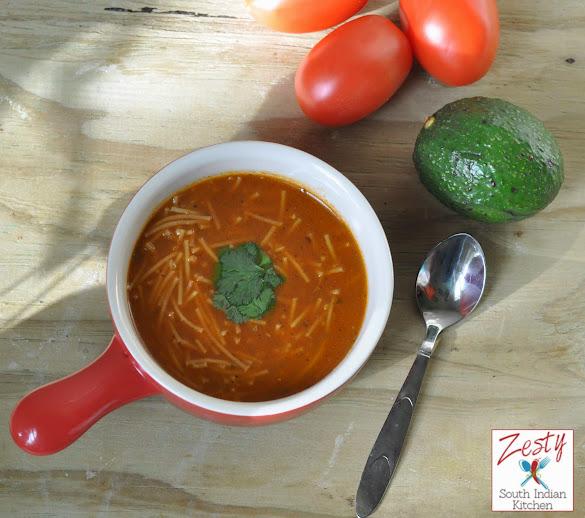 Sopa de Fideos/Mexican Noodle Soup