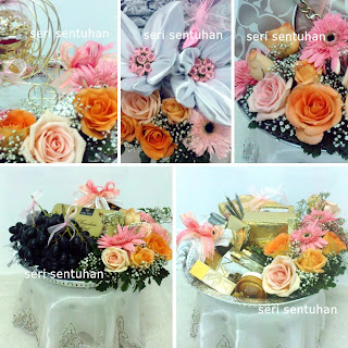 SS Gubahan Hantaran Fresh Flower Oren Pink Peach - Syafiq (Bandar