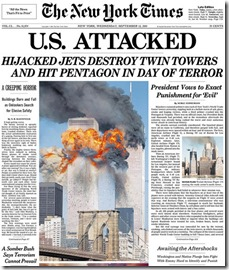9-11 attack story 09-12-01-NYT
