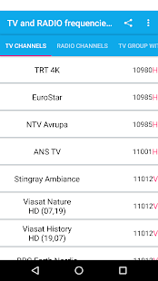 TV and RADIO frequencies on Türksat Satellite - náhled