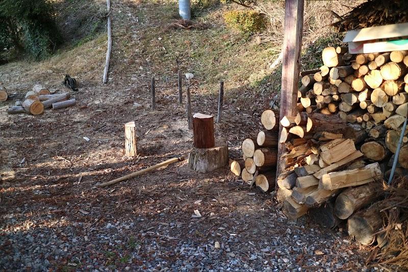 薪割り会場がこちら