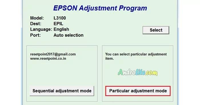 Cara Reset Epson L3110, L3100, L3150, L3001 Menggunakan Resetter