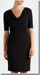 Lauren Ralph Lauren Carlton cowel neck black jersey dress with sleeves