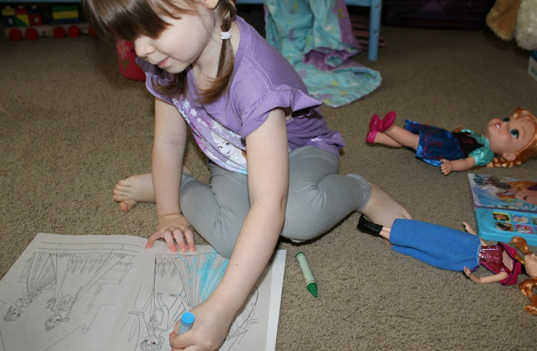 Coloring Disney FROZEN Pictures for Grammie #FrozenFun #shop