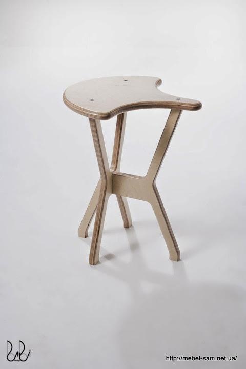 Фанерный стул - вид сбоку
