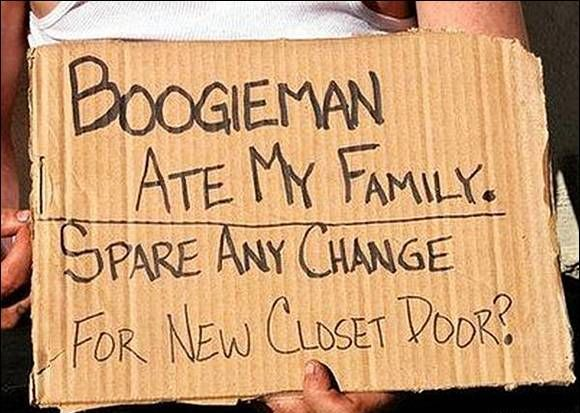 Funny Slogan Sign Boards By Beggars