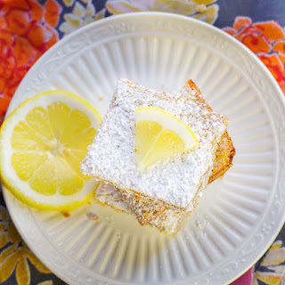 Graham Crusted Lemon Squares.